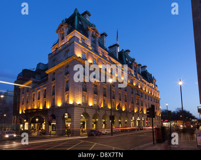 The Ritz at night,Piccadilly,London,England - Stock Photo