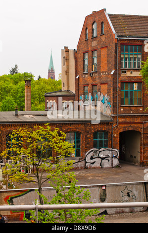 View from U-Bahn station - Stock Photo