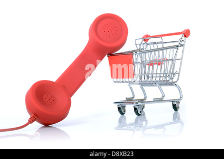 concept of telesales or telephone shopping - Stock Photo