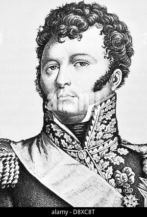 Emmanuel de Grouchy, French general and marshal.  In the campaign of Waterloo he commanded the reserve cavalry of - Stock Photo