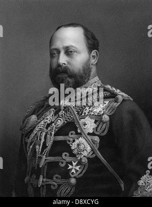 Edward VII, King of United Kingdom (1841 - 1910) - Stock Photo