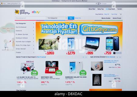 Turkish eBay online shopping website - Stock Photo