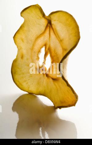 Thin slice of dried apple - Stock Photo