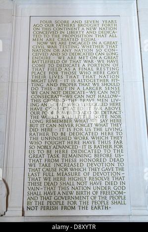 The Lincoln Memorial, Washington DC USA - Stock Photo