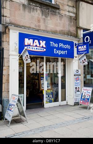 Max Spielmann shop Lancaster Lancashire England UK United Kingdom GB Great Britain - Stock Photo