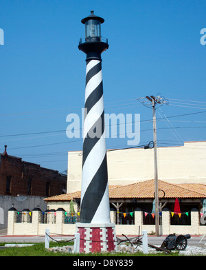 World's Tallest Replica of the Cape Hatteras Lighthouse in Wilson North Carolina - Stock Photo