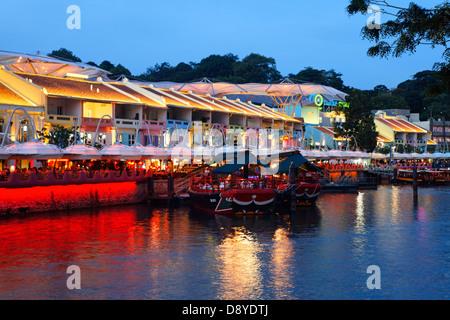 Clarke Quay, Singapore, Asia - Stock Photo