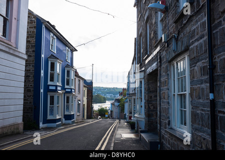 Quay Street in Cardigan, West Wales. - Stock Photo