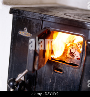 Old wood stove. - Stock Photo