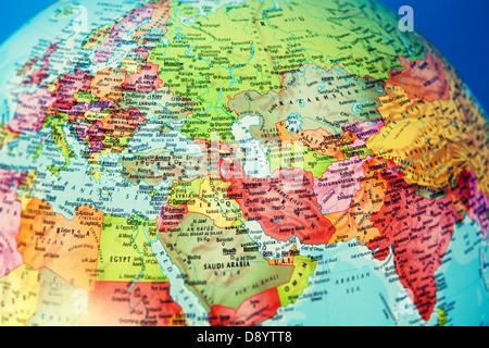 globe map - Stock Photo