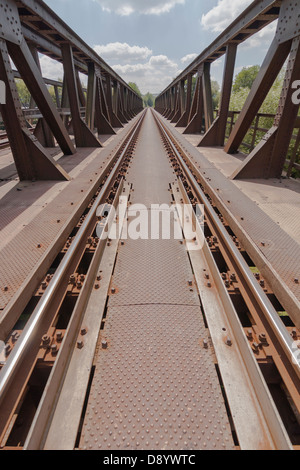 Rusty railway bridge - Stock Photo