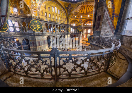 ISTANBUL - DECEMBER 2012: interiors of the Aya Sofia Mosque on December 07, 2012. The Aya Sofia Mosque is 1500 years - Stock Photo
