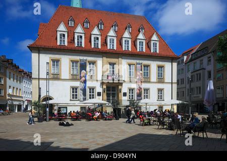 Alter Markt mit 'Theater am Alten Markt' in Bielefeld, Teutoburger Wald, Nordrhein-Westfalen - Stock Photo