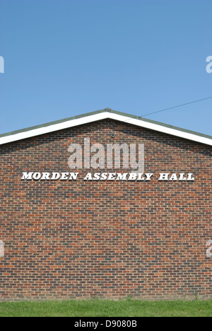 exterior of morden assembly hall, morden, south london, england - Stock Photo