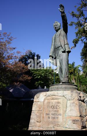 Cecil John Rhodes statue - Stock Photo