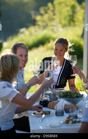 Midsummer party, Fejan, Stockholm archipelago, Sweden.