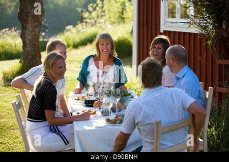 Midsummer in Stockholm archipelago, Sweden.