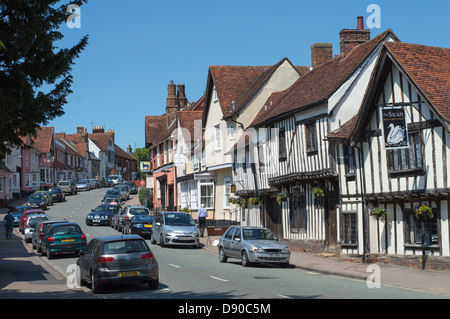 England, Suffolk, Lavenham: Laveham High Street. - Stock Photo