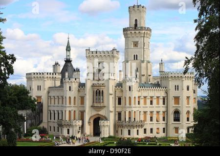 Landscape view of Hluboka castle, Czech Republic - Stock Photo