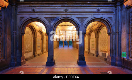 The pedestrian underpass at Bethesda Terrace, Central Park, New York City. - Stock Photo