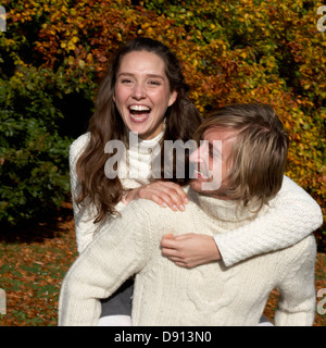 A young couple, Skane, Sweden. - Stock Photo