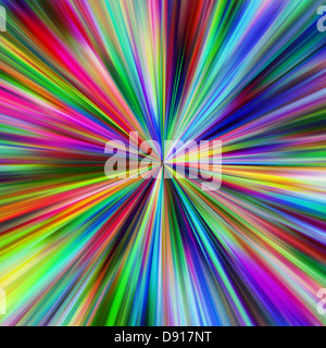 Abstract vibrant colours explosion. - Stock Photo