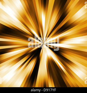 Golden colours pinpoint explosion abstract. - Stock Photo