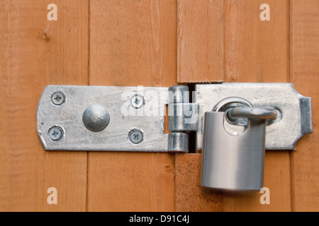 Hasp and Staple Lock - Stock Photo