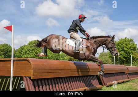 Mathew Heath on Lismore Lad - Houghton International Horse Trials 2013 - Stock Photo