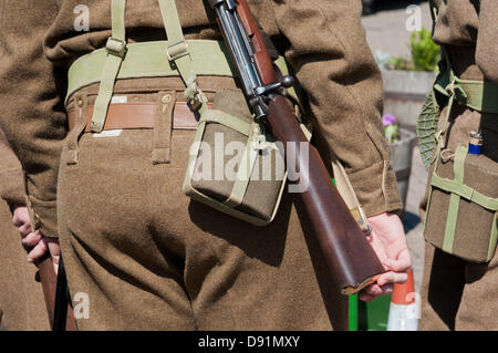 Hampshire, England, UK. 8th June 2013. War on the Line, a re-enactment of all things World War II is celebrated - Stock Photo