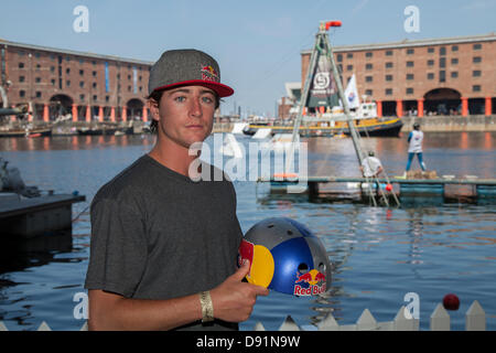 Liverpool, UK 8th June, 2013. Adam Errington, 25 from Orlando Florida, at the Red Bull Harbour Reach 2013, an inaugural - Stock Photo