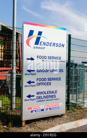 Henderson Group, Northern Ireland's biggest independent warehouse to supermarket chains such as Spar and VIvo. - Stock Photo