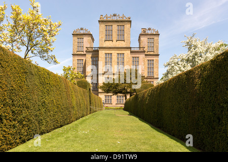 Hardwick Hall, Derbyshire in Spring - Stock Photo