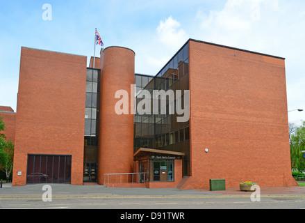 East Herts Council building, The Causeway, Bishop's Stortford, Hertfordshire, England, United Kingdom - Stock Photo