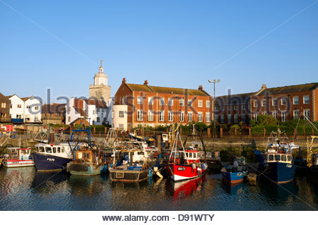 Camber Quay in Portsmouth, Hampshire, UK. - Stock Photo