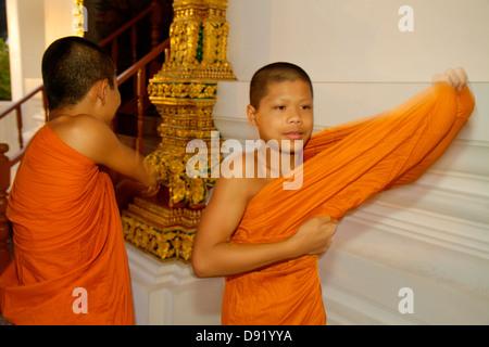 Bangkok Thailand Phra Nakhon Wat Ratchanatdaram Buddhist temple Loha Prasat Maha Chetsadabodin Pavilion Rattanakosin - Stock Photo