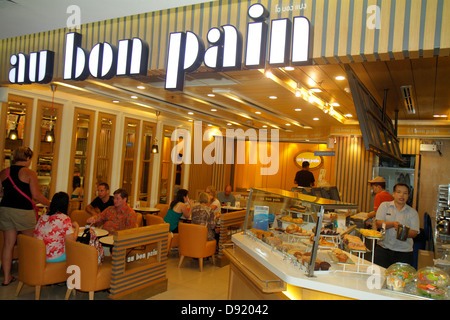 Bangkok Thailand Pathum Wan Rama 1 Road MBK Center centre complex mall shopping restaurant Au Bon Pain bakery inside - Stock Photo