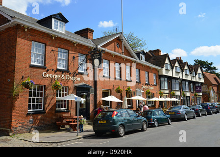 George & Dragon Pub, The Causeway, Marlow, Buckinghamshire, England, United Kingdom - Stock Photo