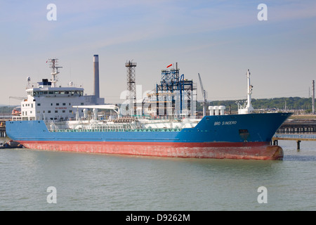 Fawley Refinery marine terminal, The Solent, Hampshire - Stock Photo