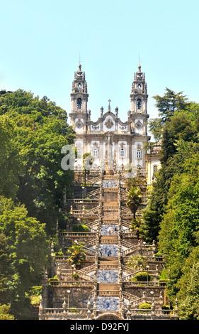Santuario Nossa Senhora dos Remédios Lamego Portugal - Stock Photo