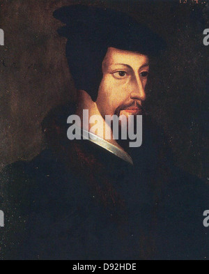 Jean Calvin or John Calvin, John Calvin, French theologian and pastor during the Protestant Reformation. - Stock Photo
