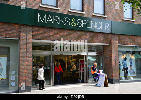 Marks and Spencer store, South Street, Bishop's Stortford, Hertfordshire, England, United Kingdom - Stock Photo