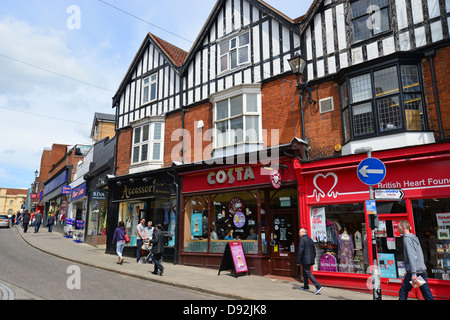 South Street, Bishop's Stortford, Hertfordshire, England, United Kingdom - Stock Photo