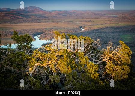 View from Elk Mountain in Wichita Mountains Wildlife Refuge, Oklahoma - Stock Photo