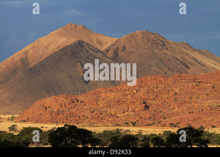 Rock formations, Ranch Koiimasis, Tiras Mountains, Southern Namibia, Africa - Stock Photo