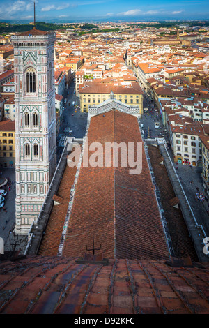 The Basilica di Santa Maria del Fiore (English: Basilica of Saint Mary of the Flower) is the main church of Florence, Italy Stock Photo
