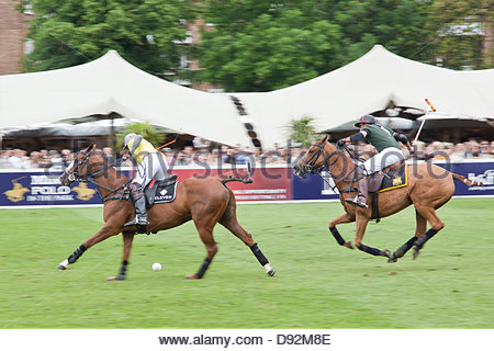 Hurlingham Park, London, UK. 9th June 2013. Finals day of MINT Polo trophy. Credit:  Sylvie JARROSSAY/Alamy Live - Stock Photo