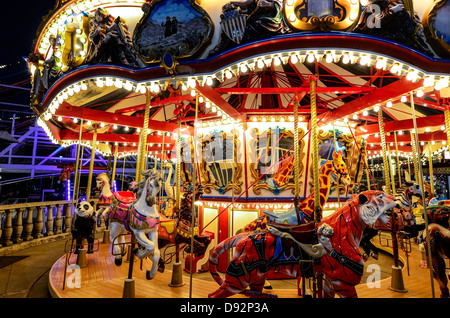 Colorful Carousel At Belmont Park San Diego California