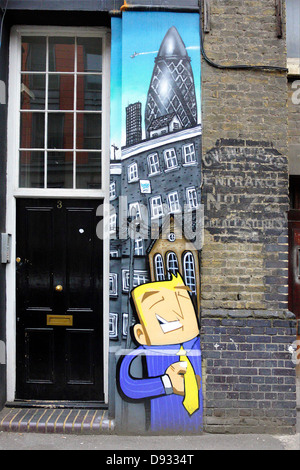 Street art situated around the thriving Great Eastern Street area of London`s east End. - Stock Photo