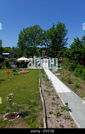 Allotments within the site of the International Garden Show 2013 (IGS) on Wilhelmsburg Island in Hamburg, Germany. - Stock Photo